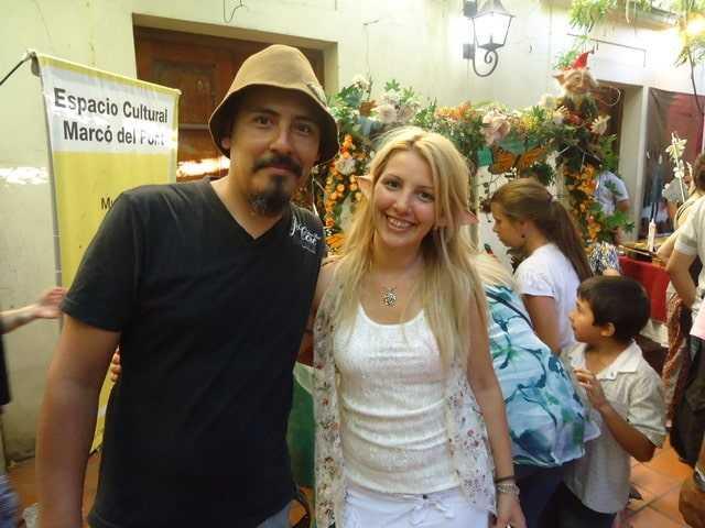 Con Andrea compartiendo  «magia y encanto»